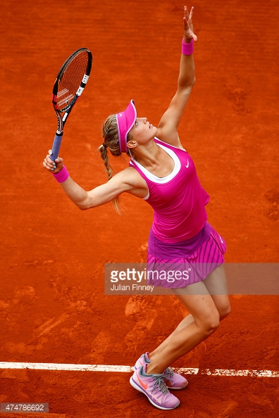 Genie Bouchard exited on day three of the 2015 French Open at Roland Garros on May 26, 2015 in Paris, France. Photo Credit: Julian Finney.