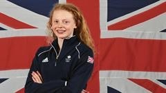 Georgia Coates, the youngest member of Team GB's swimming team Image Source: Prince Henry's Grammar School